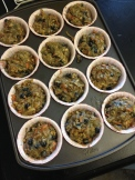 Should make a dozen large muffins or you could put less batter in each muffin cup and make 18 smaller muffins.