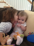 Kissing her favorite baby, Ivey:)