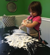 Shaving cream art!