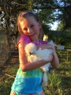 This is Lillie's chicken Cha Cha! We hope to bring her to our new house soon!